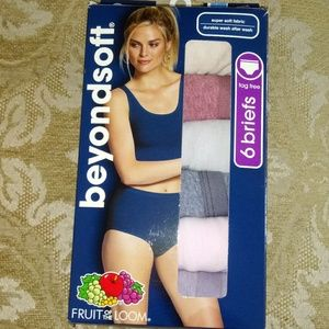 Fruit of the Loom 6Pk BeyondSoft Tag-Free Briefs